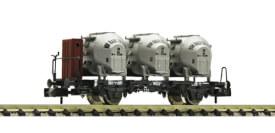 N Behältertragwagen Bauart Bt10 mit Bremserhaus und Efkr Behältern, DB