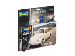 REVELL 67681 Modellbausatz VW Beetle mit Basisfarben 1:32, ab 10 Jahre