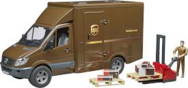 Bruder 02538 MB Sprinter UPS, ab 4 Jahren, Maße: 52 x 19,5 x 27 cm, Kunststoff