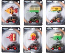 Speedzone D/C Traktor mit Anhänger, 6-fach sortiert, W135 x H182 mm