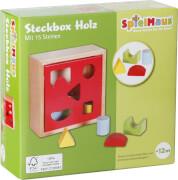 SpielMaus Holz Steckbox 15 Steine, ca. 16,5x16,5x6,5 cm, ab 12 Monaten