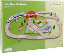 Beeboo Eisenbahn-Spielset 50-teilig