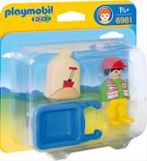 Playmobil 6961 Bauarbeiter mit Schubkarre
