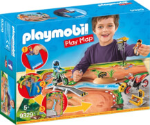 PLAYMOBIL 9329 Play Map Motocross
