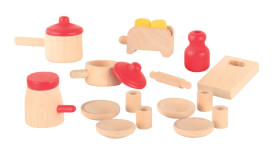 Beeboo Geschirr-Set, Holz