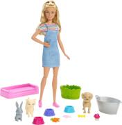 Mattel FXH11 Barbie Badespaß Tiere & Puppe (blond)