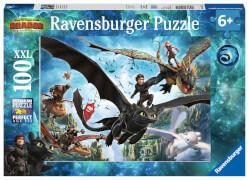 Ravensburger 10955 Puzzle Dragons: Die verborgene Welt 100 Teile XXL