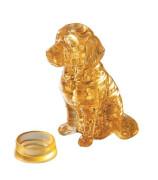 HCM Kinzel - 3D Crystal Puzzle - Golden Retriever, 41 Teile, ab 14 Jahre