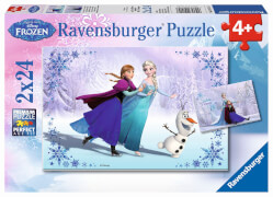 Ravensburger 09115 Puzzle Disney Die Eiskönigin Schwestern für immer 2 x 24T.
