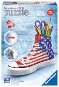 Ravensburger 12549 Puzzle 3D Sneaker Flag Edition 108 Teile