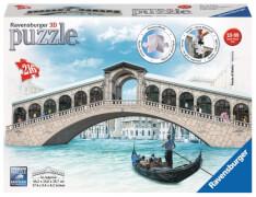 Ravensburger 125180 Puzzle: 3D Rialto Brücke, 216 Teile