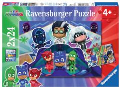 Ravensburger 07824 Puzzle: PJ Masks retten den Tag 2 x 24 Teile