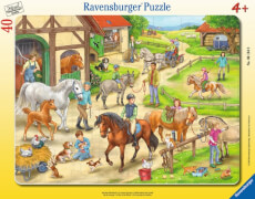 Ravensburger 06164 Puzzle: Auf dem Pferdehof, 30 Teile