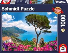 Schmidt Puzzle 58329 Blick über die Amalfiküste, 1000 Teile, ab 12 Jahre