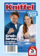 Schmidt Spiele 49070 Kniffelblock groß, 100 Blatt, 2 bis 8 Spieler, ab 8 Jahre