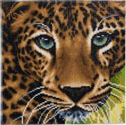 Crystal Art Leinwand Leopard 30x30 cm