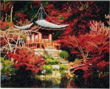 Crystal Art Leinwand Japanischer Tempel 40x50 cm