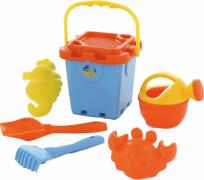 Outdoor active Burgeimerset mit Gießer, 7-teilig, Outdoorspielzeug, ca. 16,5x20,5x31,3 cm, ab 18 Monaten