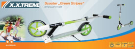 XXtreme Scooter Green Stripes 205 mm