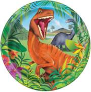 Dinosaurier Pappteller 23 cm 8 Stück