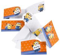 6 Einladungskarten Minions mit Umschlägen
