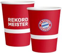 8 Becher FC Bayern München Papier  250 ml